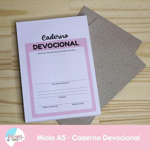 Miolo Caderno Devocional - IMPRESSO