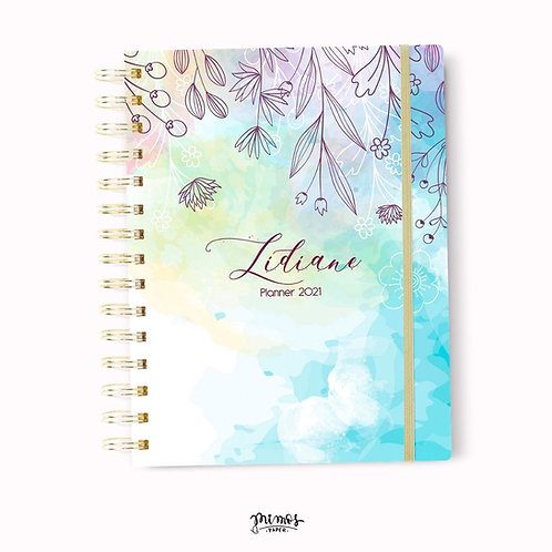 Planner Mimos A5 - Floral azul céu