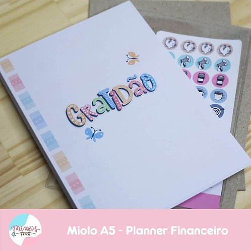 Miolo Planner Financeiro A5 - IMPRESSO