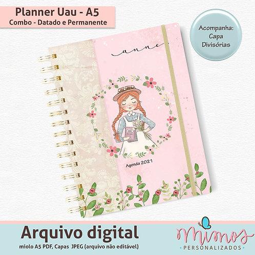 Planner Uau A5 - ARQUIVO DIGITAL - Combo Permanente e Datado 2021