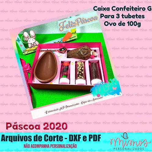 ARQUIVO DE CORTE - Caixa Confeiteiro M e G