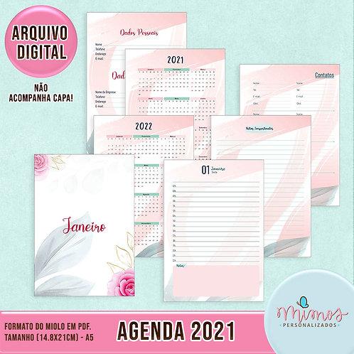 Agenda 2021 Floral - Arquivo Digital (MIOLO)