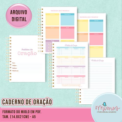 Caderno Pedidos de Oração - Arquivo Digital