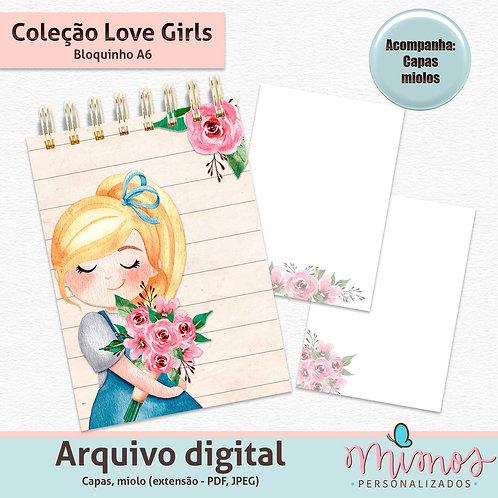 Coleção Love Girls - Bloquinho A6 - Arquivo Digital
