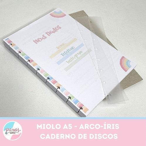 Miolo Arco-íris A5 (caderno inteligente) - impresso