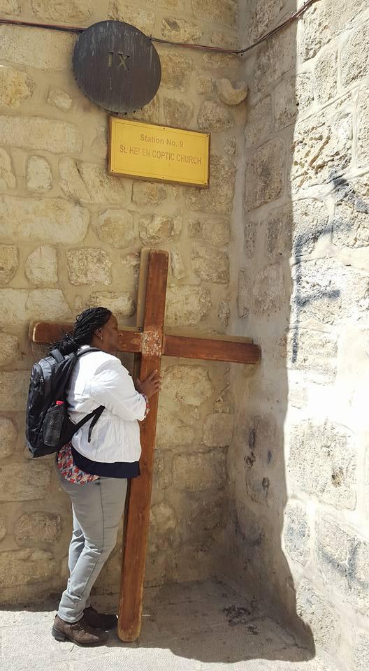 The Via Dolorosa in the Old City of Jerusalem taken March 2017