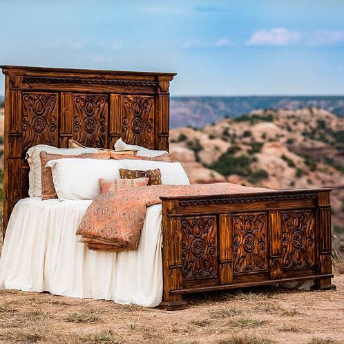 Carved Ombré King Bed