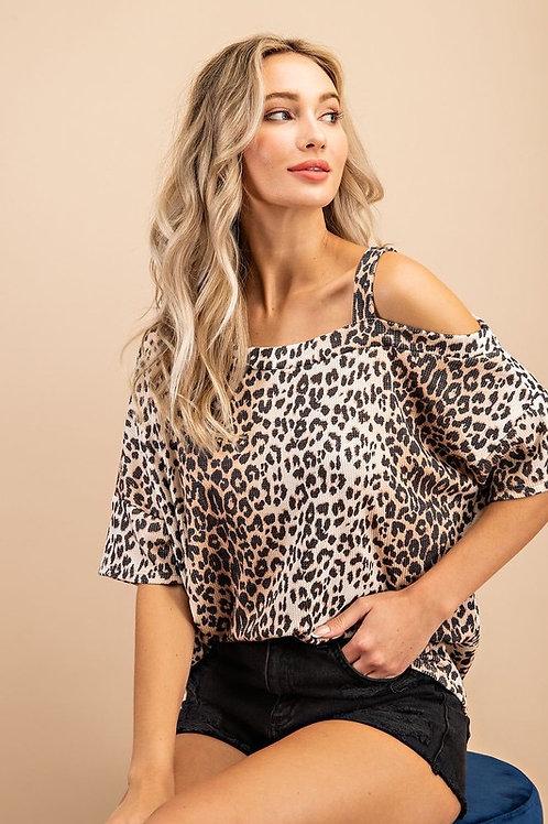 Cheetah Cold Shoulder