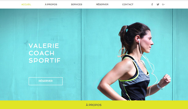 Trouvez votre Template website templates – Coach personnel