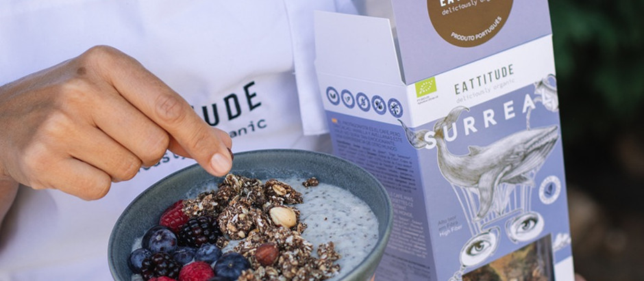 bowl surreal: smoothie de coco com granola de café