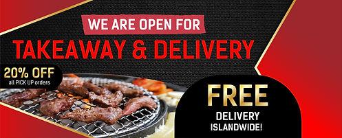 Seorae Delivery + Pick Up Website Banner