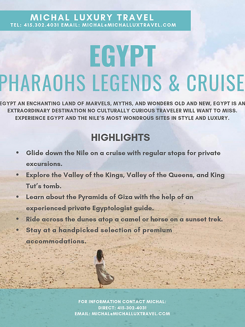 EGYPT: Pharaohs, Legends, and Cruise