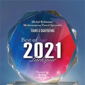 Michal Reihanian- Mediterranean Travel Specialist Receives 2021 Best of Larkspur Award