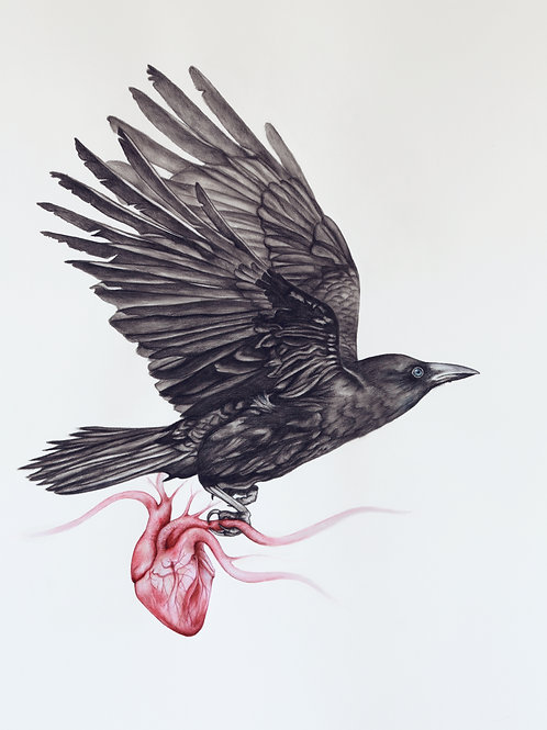 A4 Print of 'This Wild Beautiful Heart'