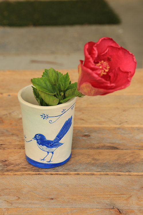 Willy Wagtail Bud Vase or Cup