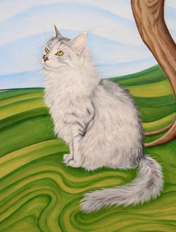 Nanaia the cat detail