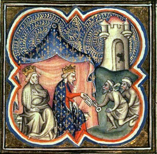 Phillip Augustus and Richard the Lionheart capturing Acre during the Third Crusade