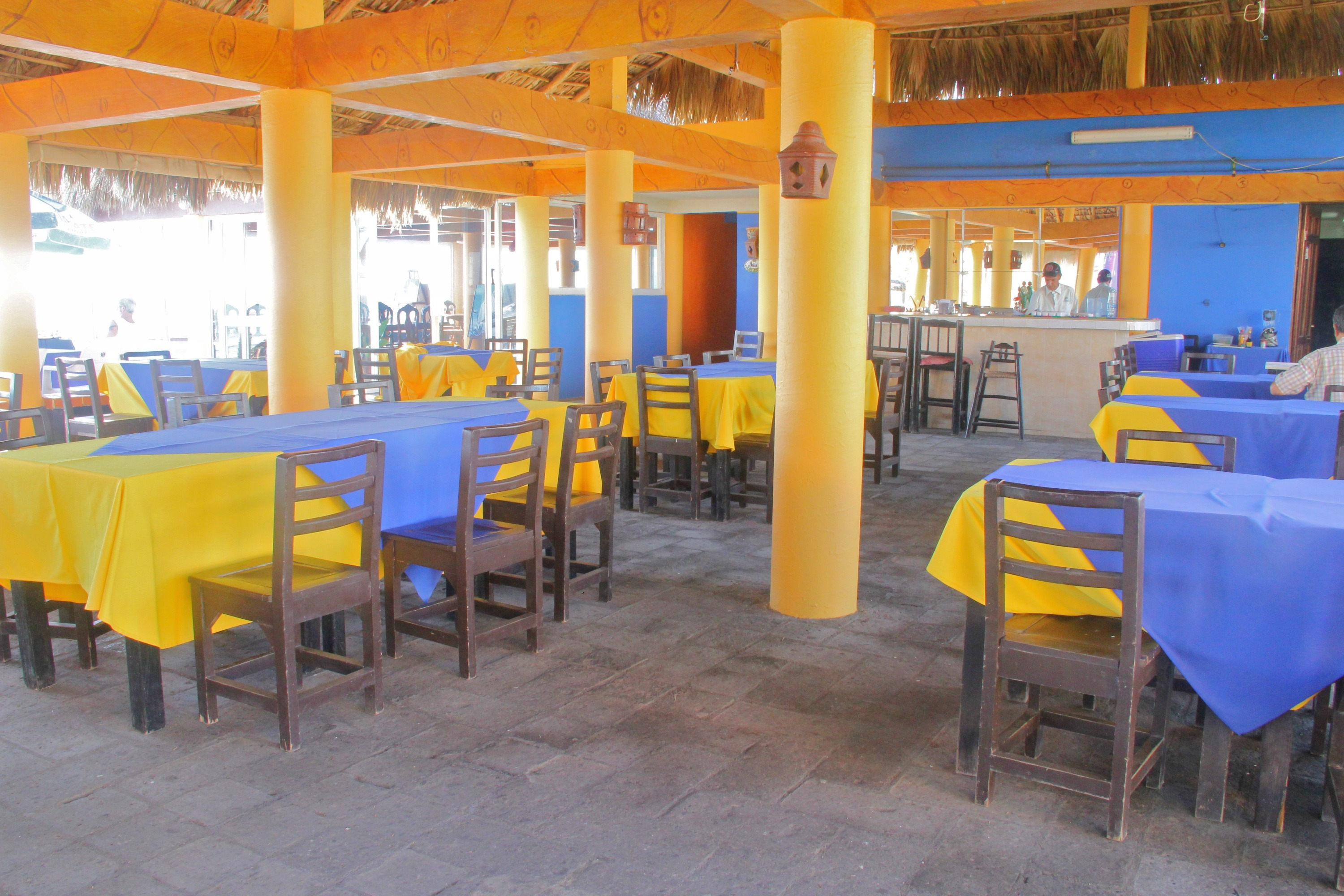 Shared restaurant by the beach.