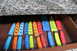Knives in kitchen
