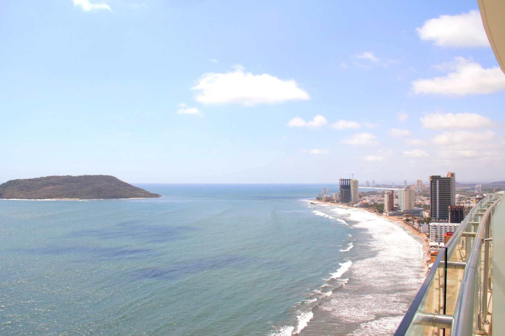 City and island views.