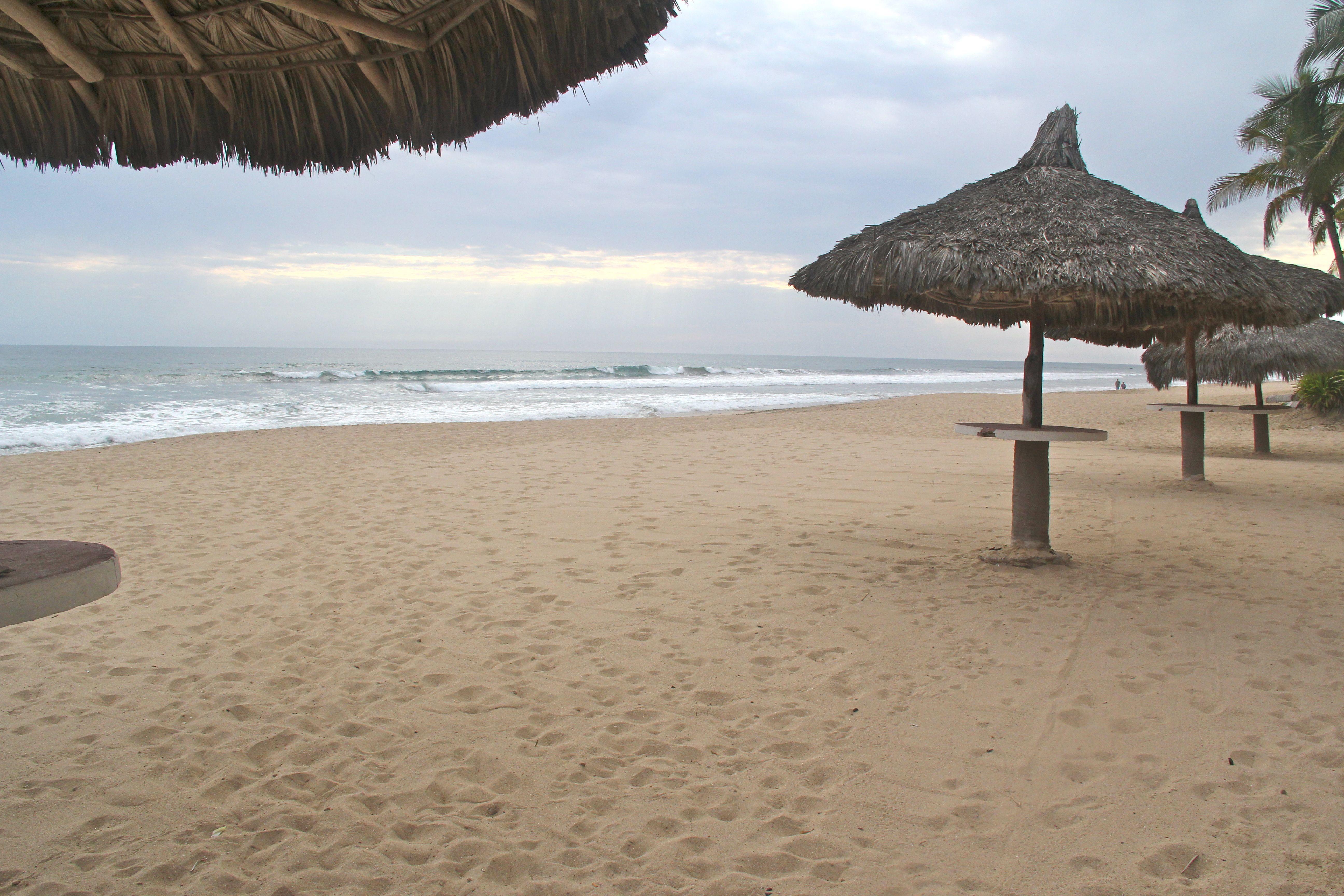 Private beach palapas