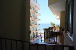 Partial ocean views from second bedroom.