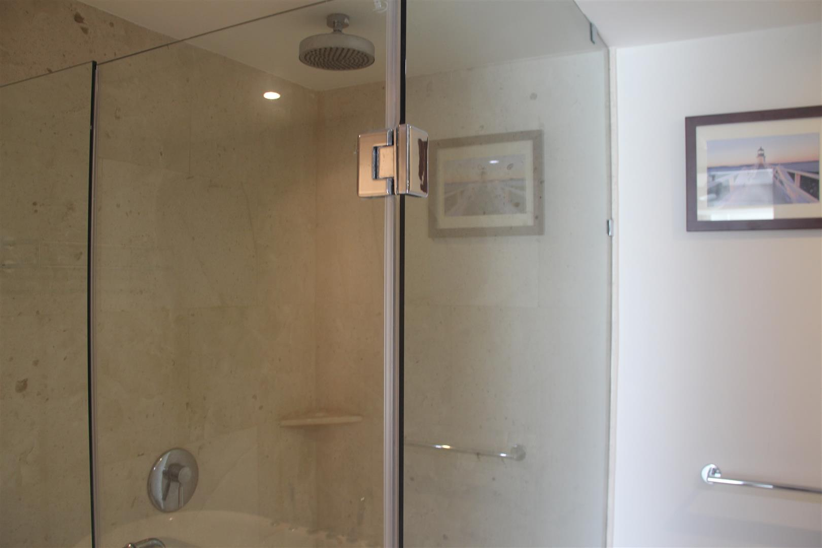 Large shower in master bath.