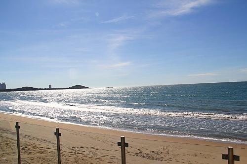 Miles of quiet beach to enjoy.