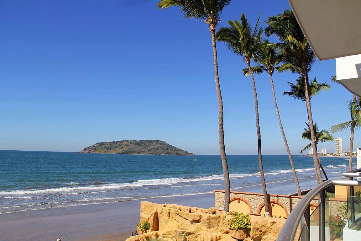 Beach views from terrace.