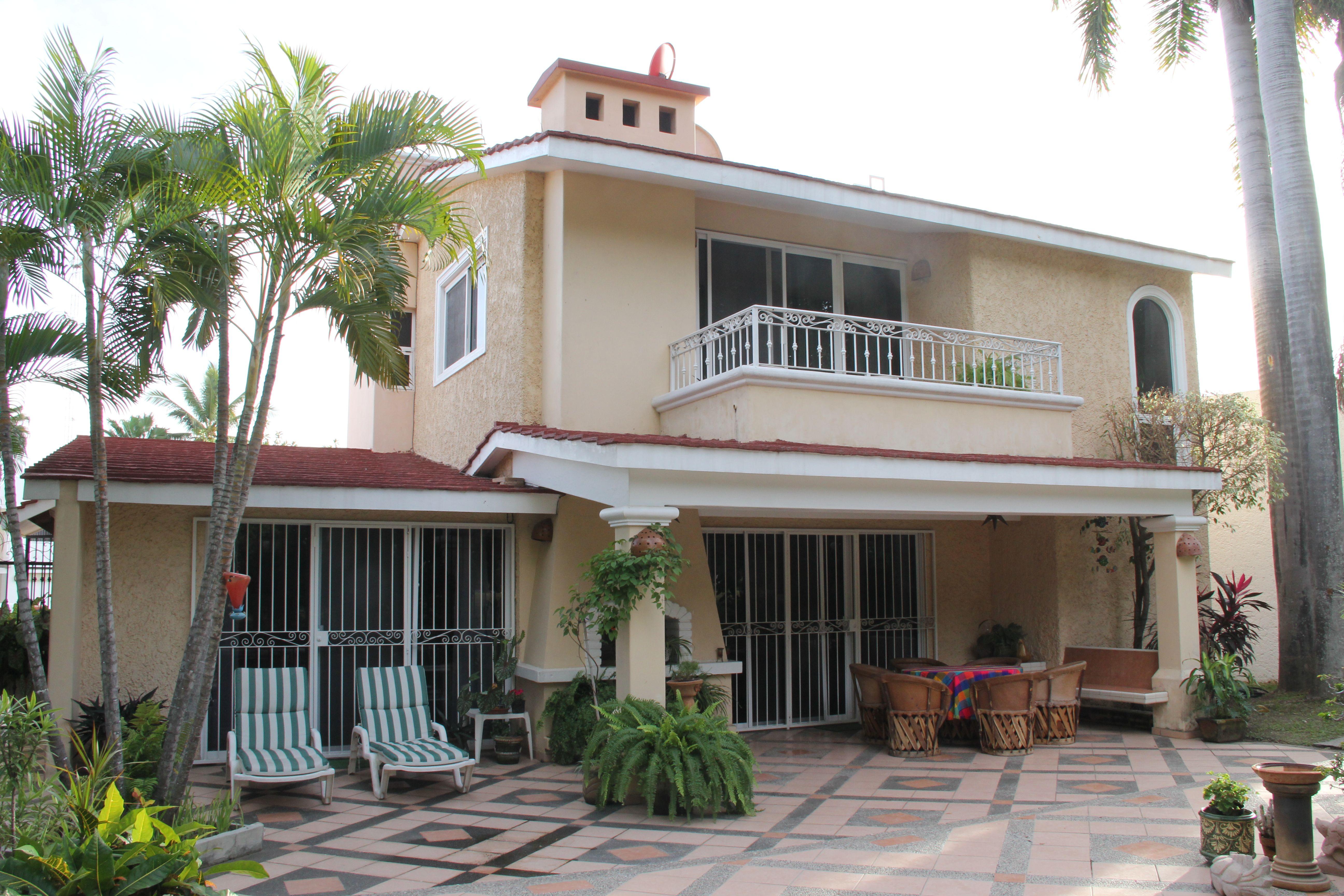 Terraza trasera de Casa de Iguanas