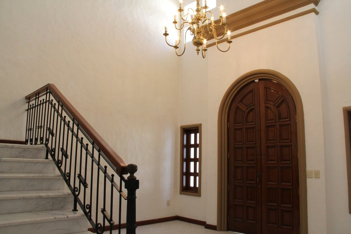 Grand entrance to home.