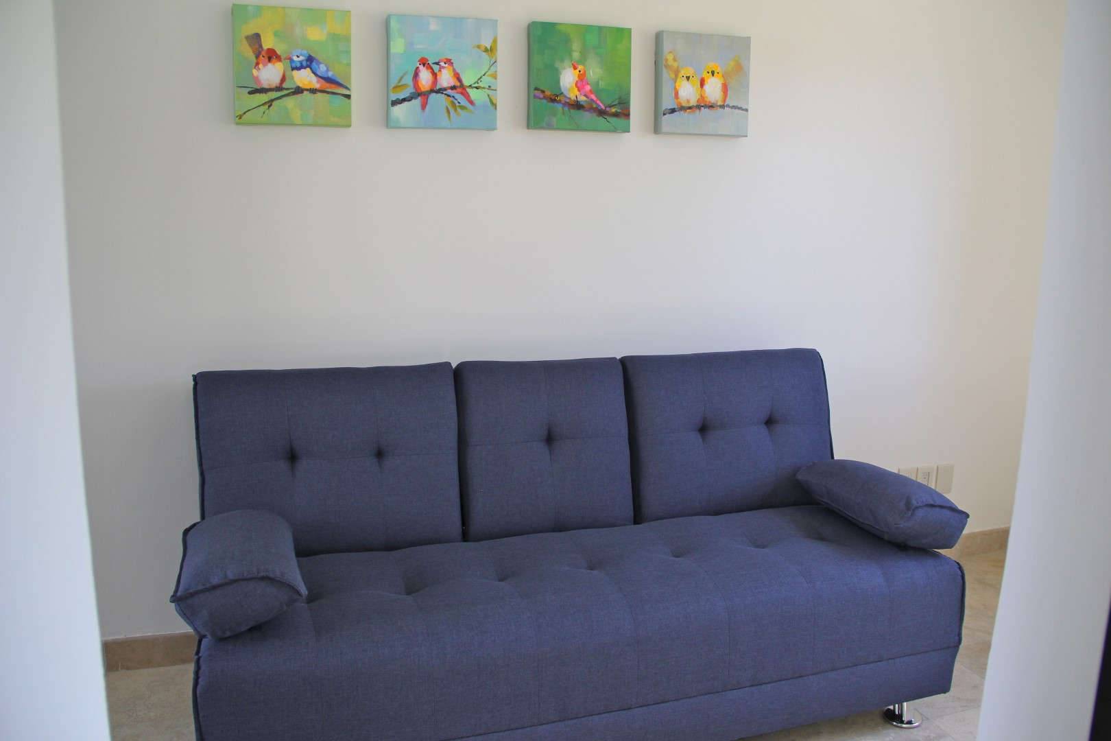 Sofa bed in office off master sutie