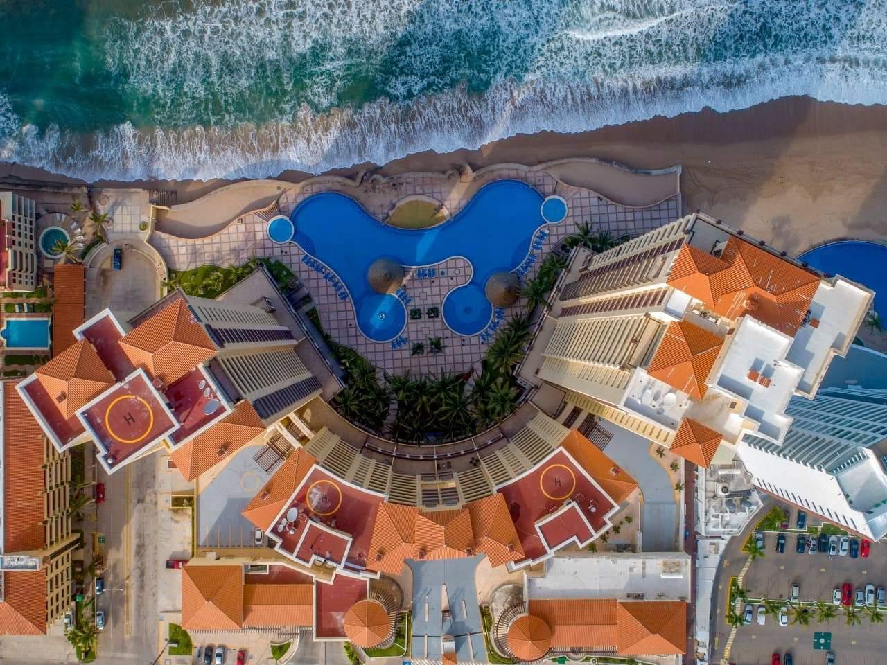Aerial view of Gavias Grand.