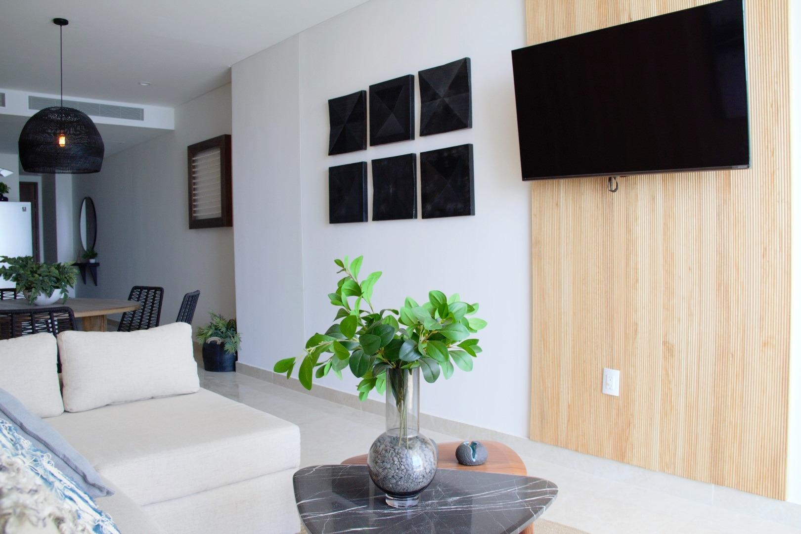 Smart TV for streaming programming.