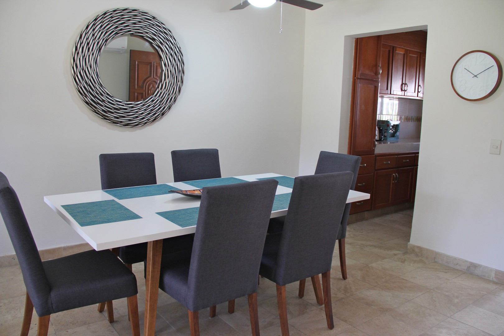 Dining area with kitchen access