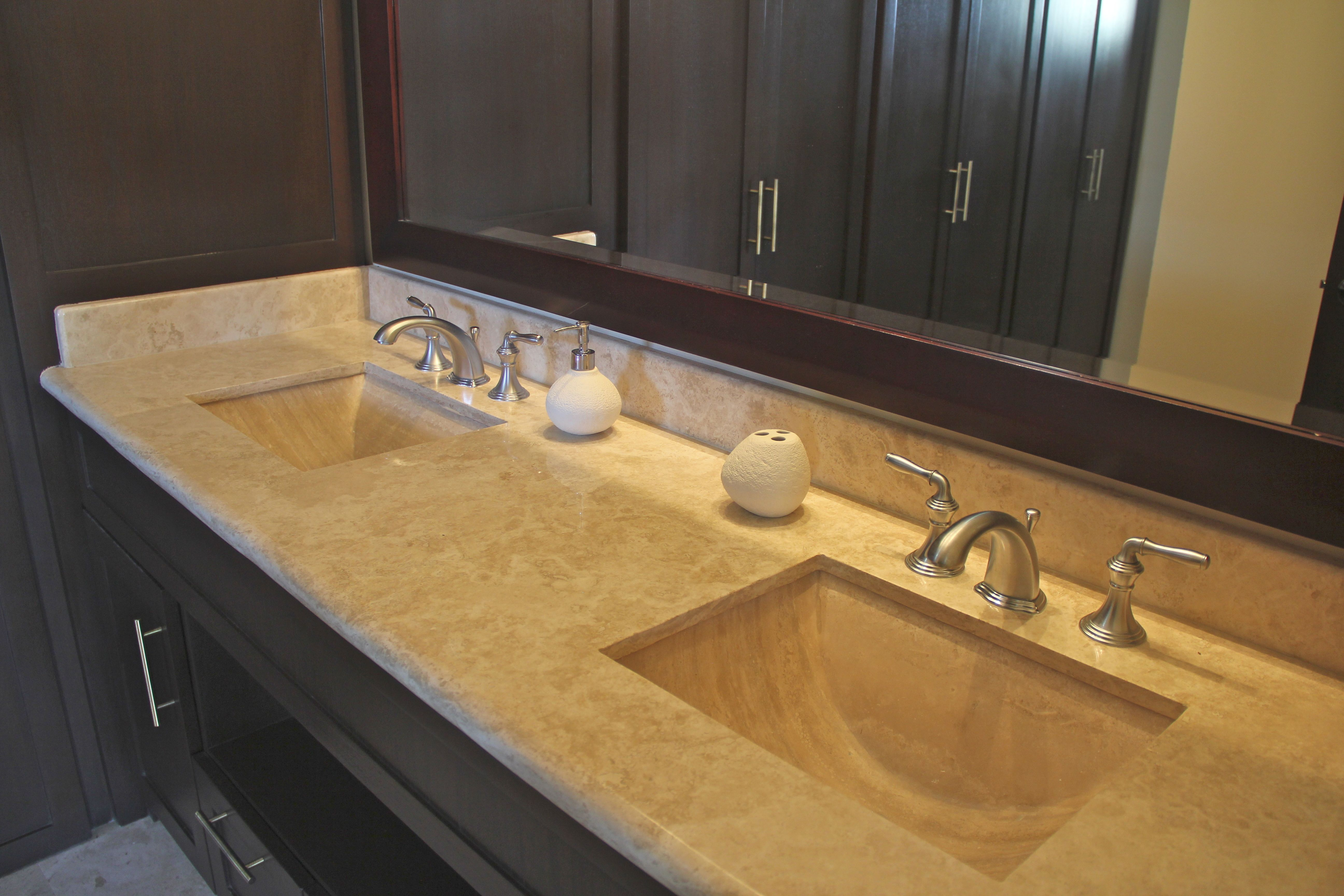 Double sinks in master en-suite.