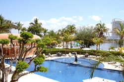Beautiful pool area and condo grounds.