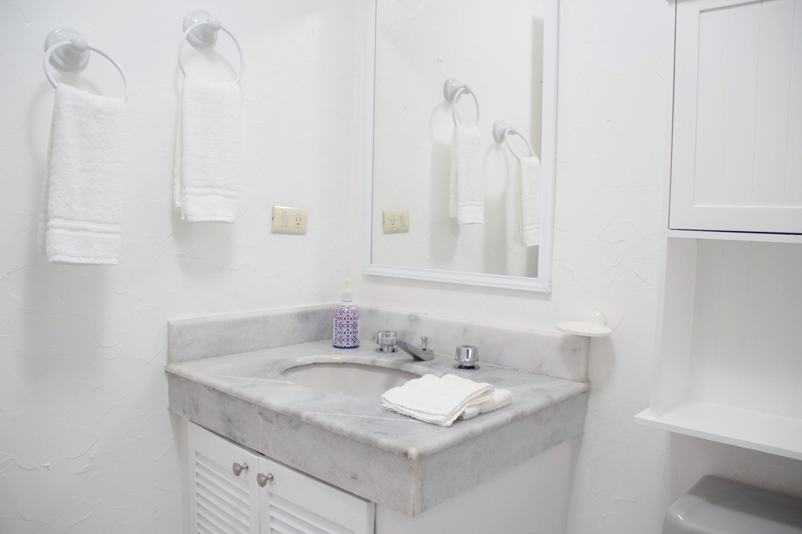 Vanity in second bathroom.