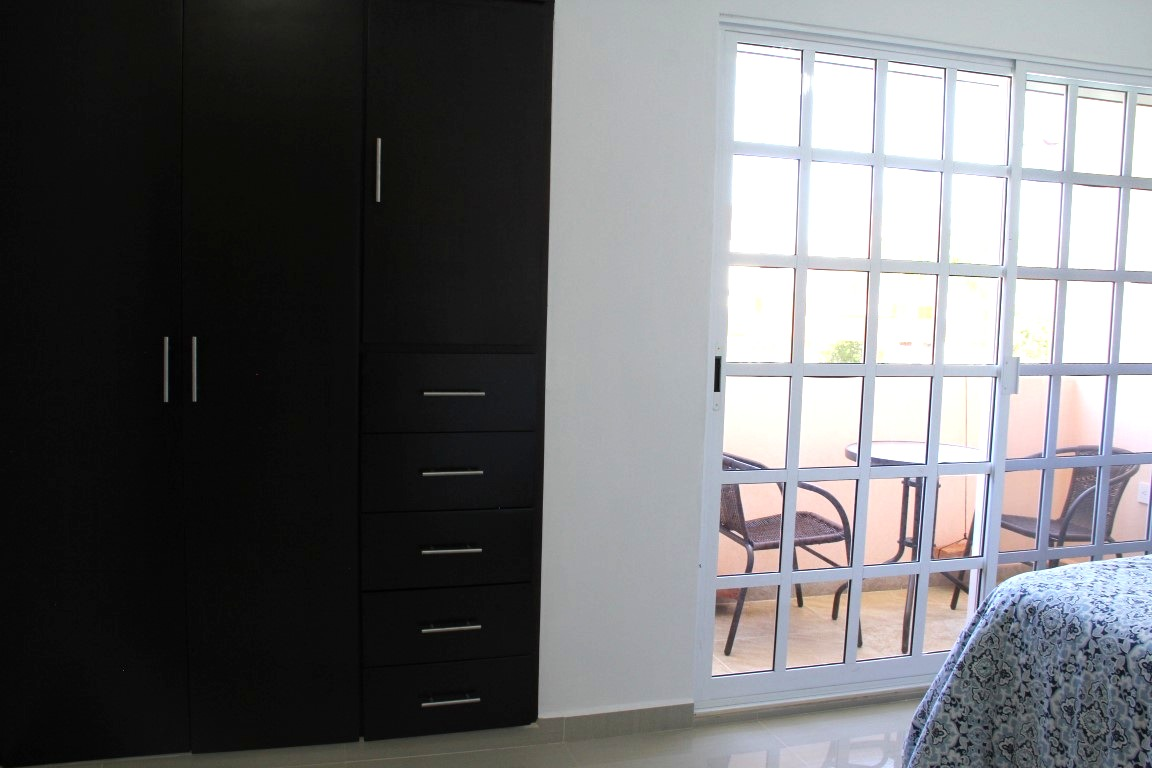 Large patio doors for natural light.