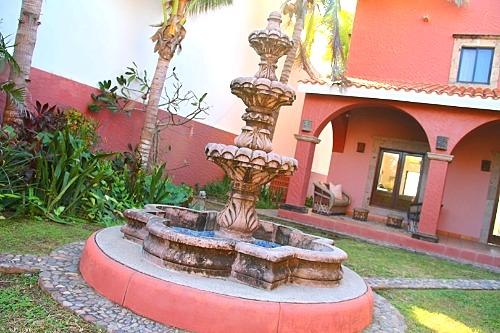 Beautiful fountain and gardens.