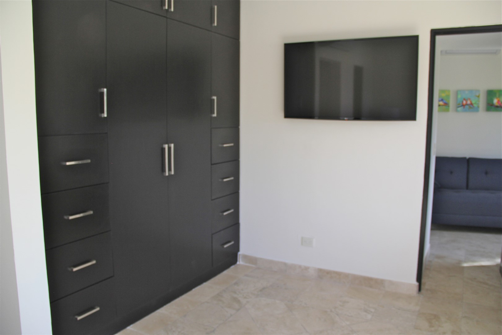 Closet and Tv in master suite
