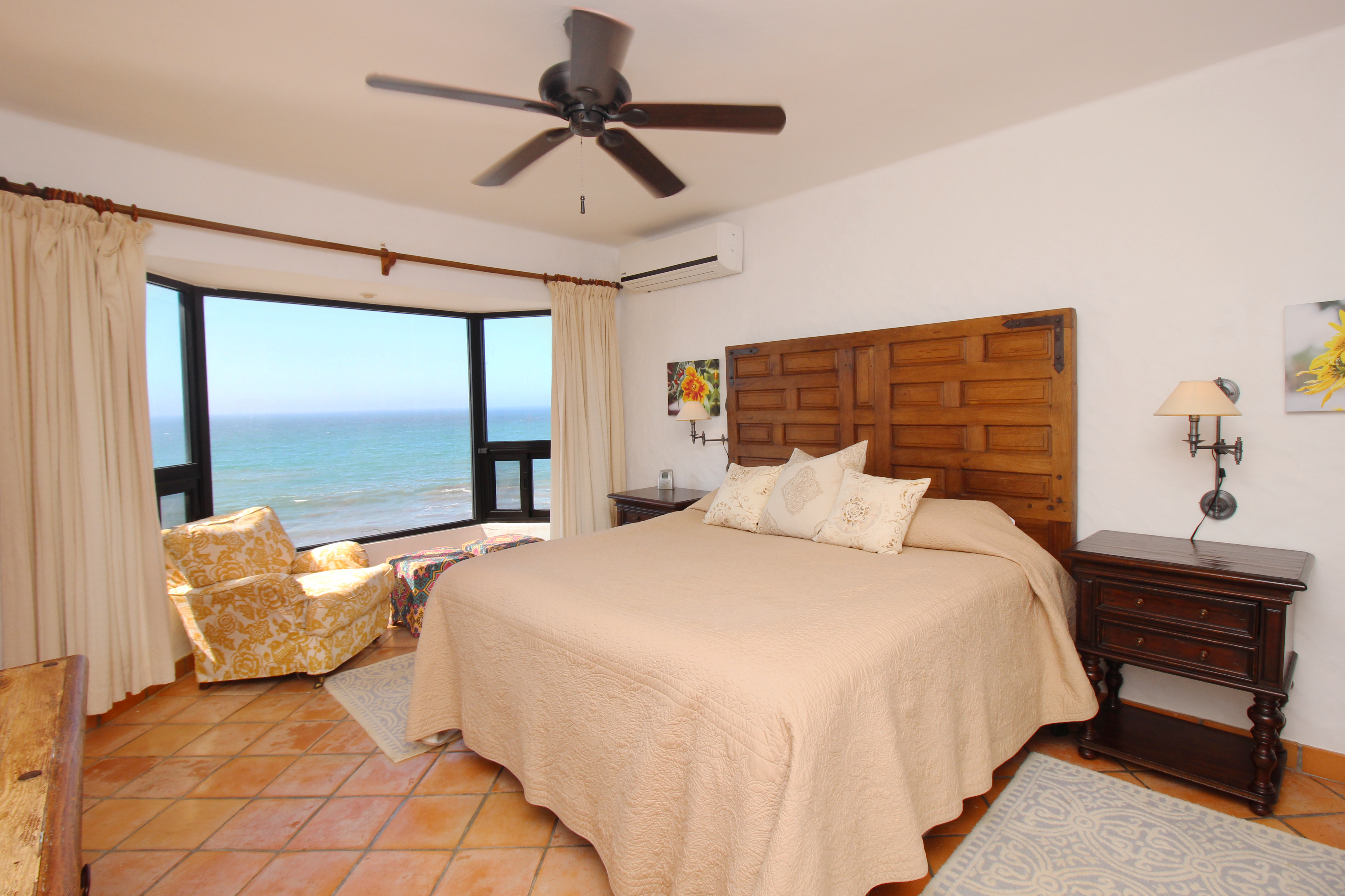 Master bedroom with ocean views on second level.
