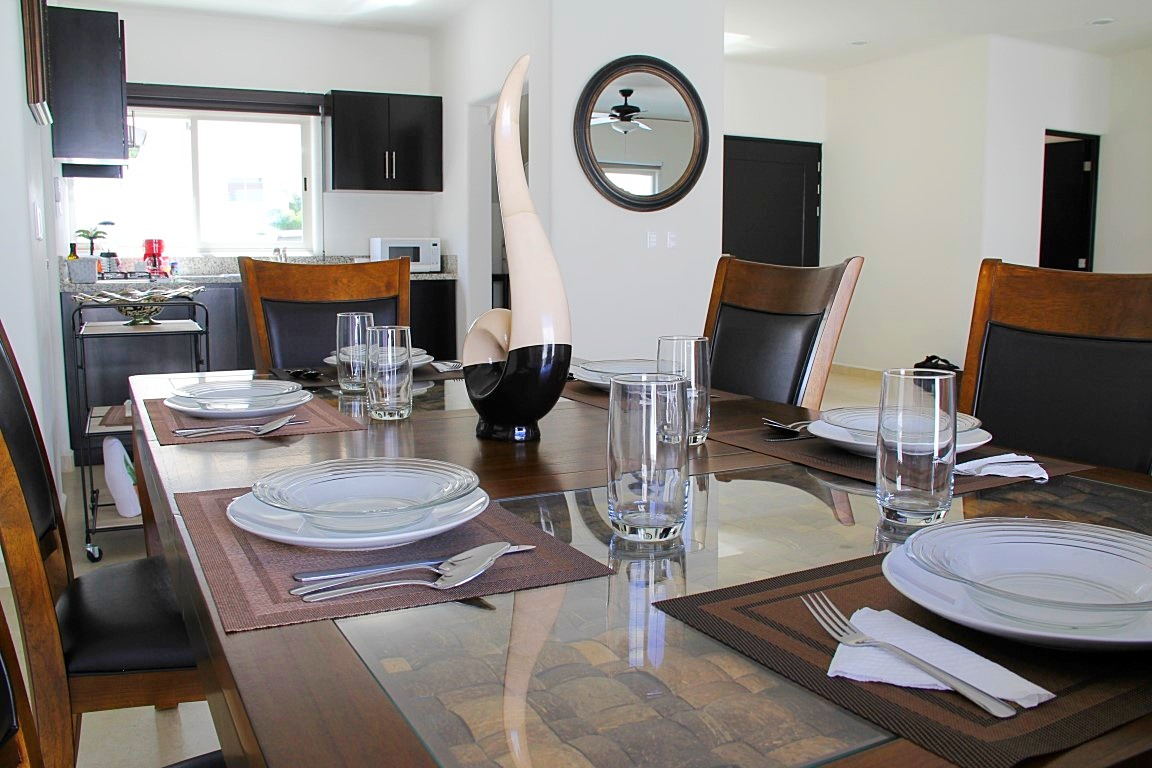 Bueatiful decor in dining and living