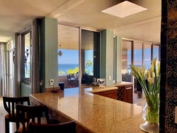 Open spaces with ocean views from kitchen.