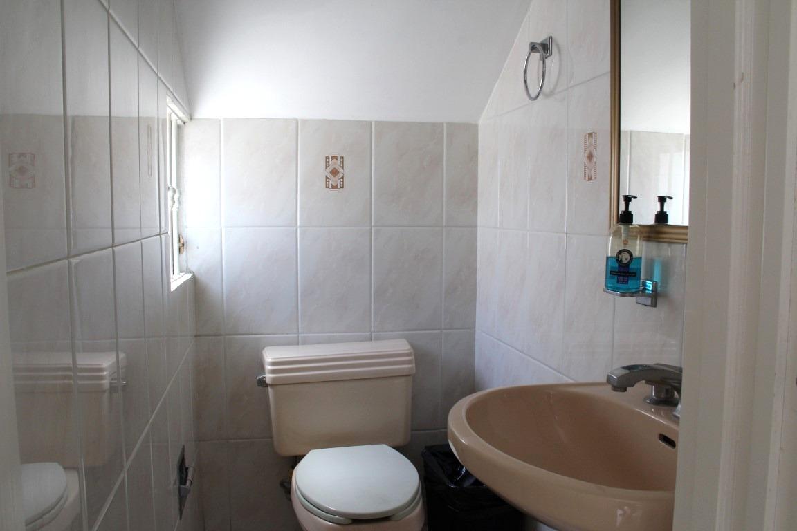 Half bath on main level.