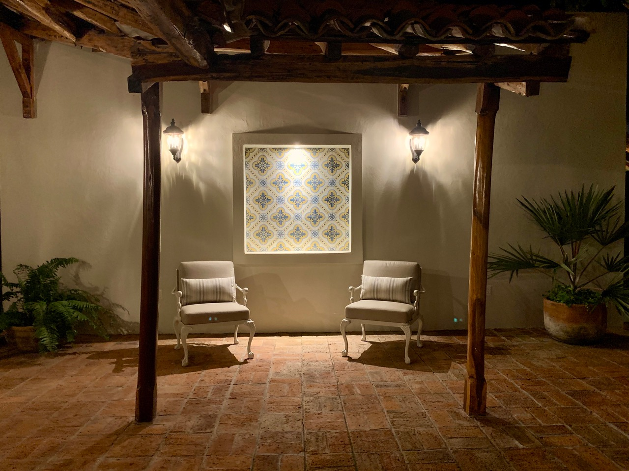 Seating outside the casita.