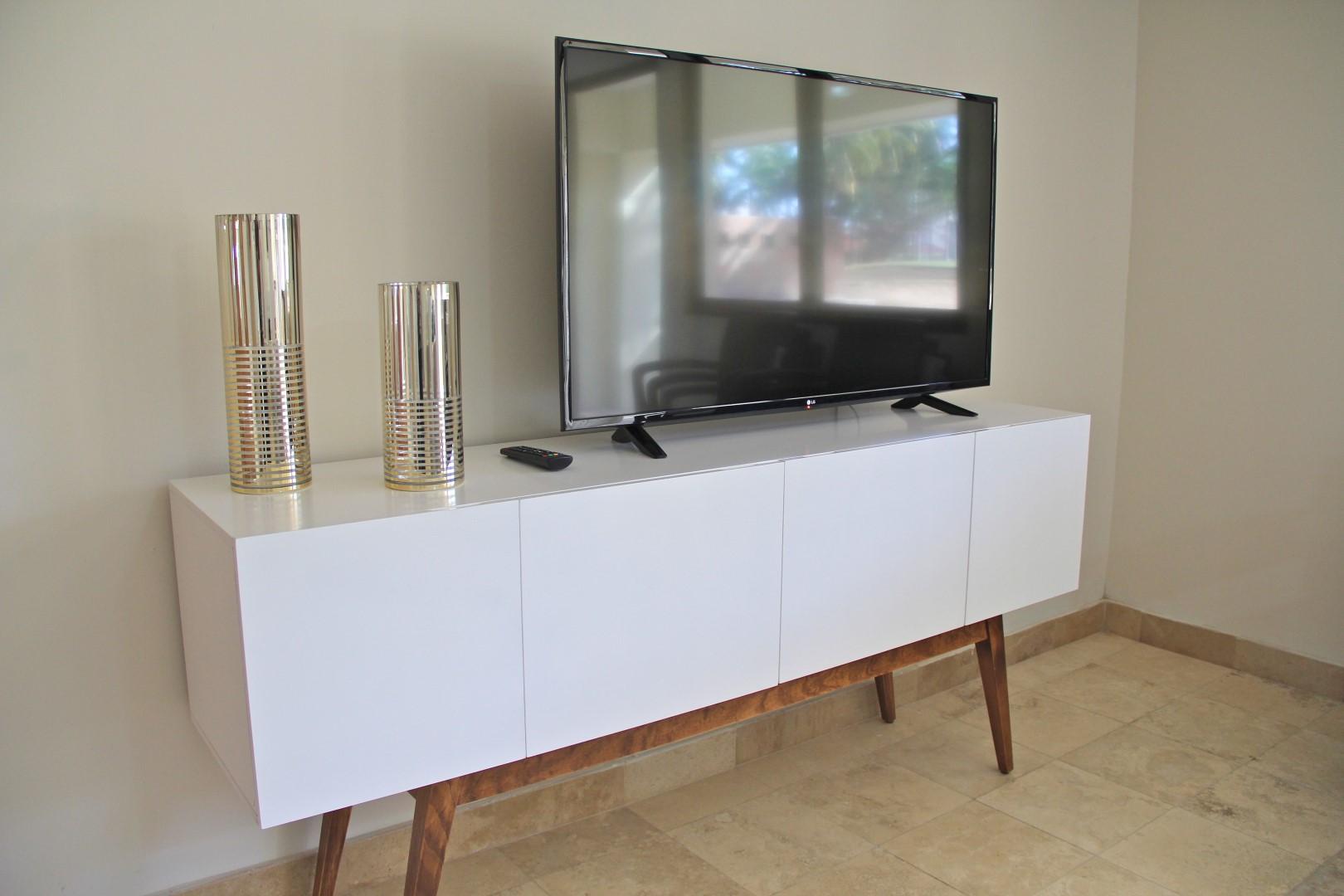 Flatscreen TV in living room