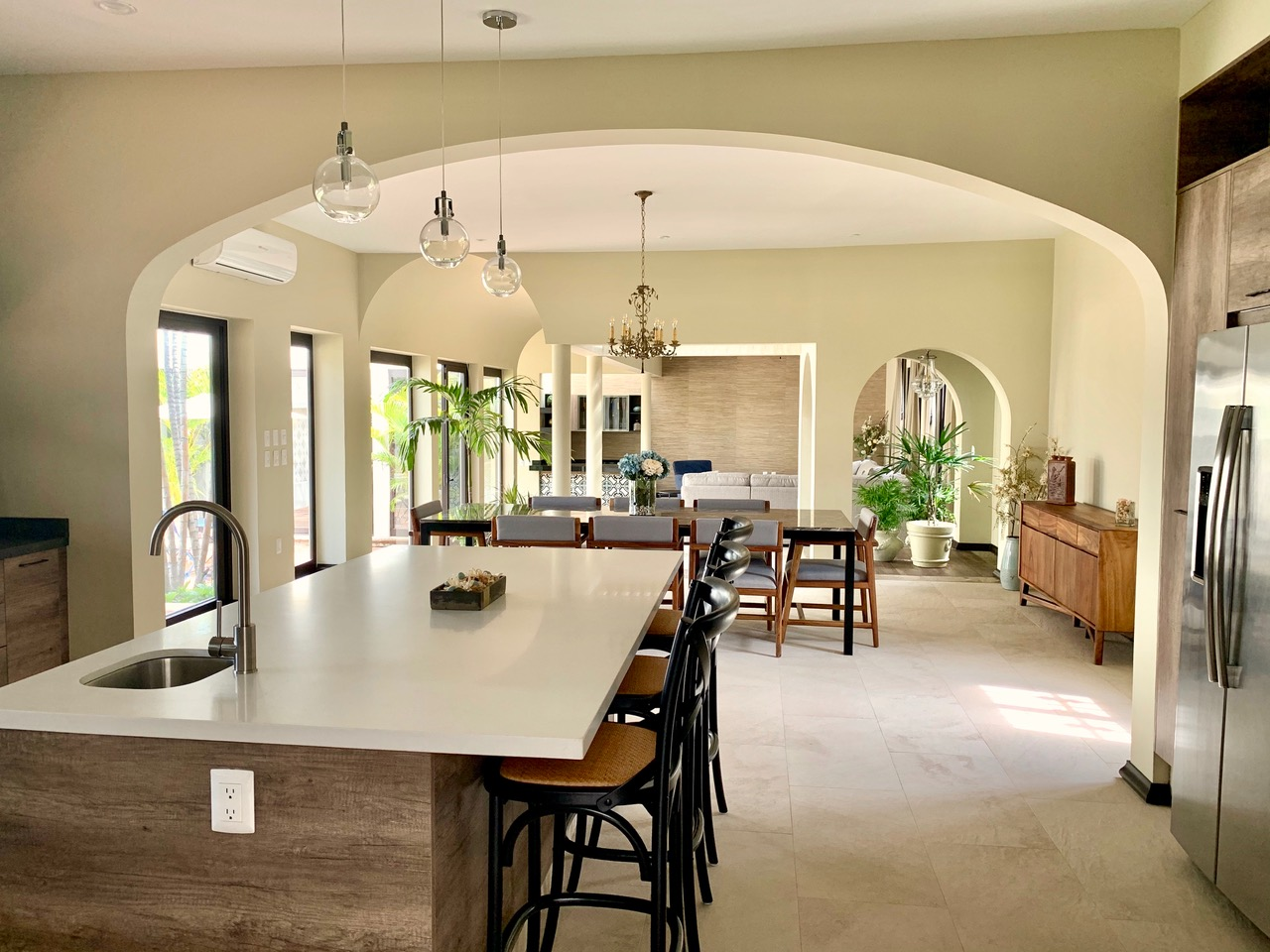 Open living spaces with natural light.
