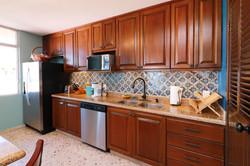 Modern kitchen with appliances.