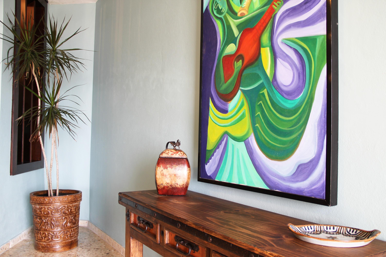 Original art and unique furnishings.
